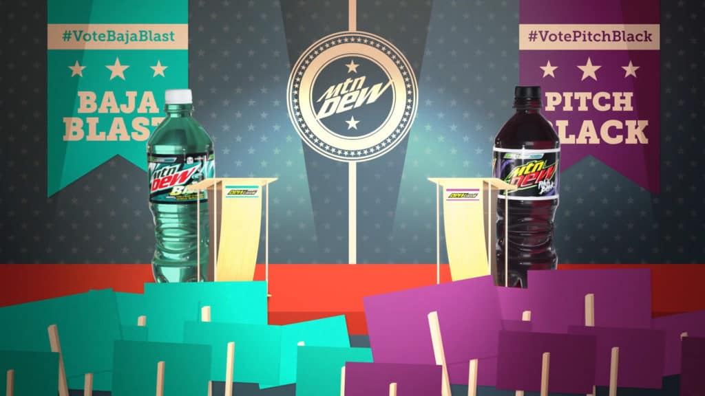 MTV plus Mountain Dew TV Commercial for US Elections animation still image