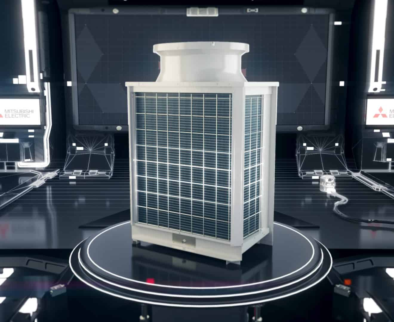 Mitsubishi Electirc product launch 3d design