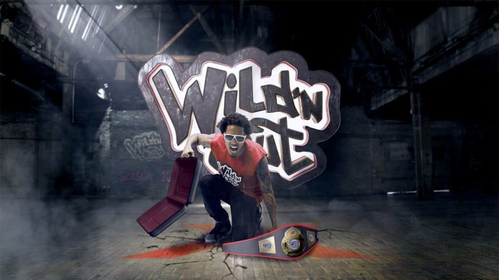 Wild 'N Out hero image showing Nick Cannon in frame