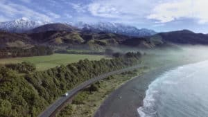 Still image from Title Sequence of Surfing the South Island of New Zealand video episode